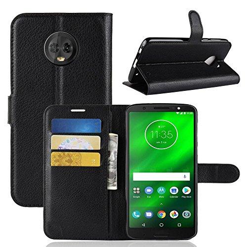 ECENCE Handyhülle Schutzhülle Case Cover kompatibel für Motorola Moto G6 Plus Handytasche Schwarz 21030205