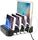 Charging Station, NexGadget Detachable Universal Multi-Port USB Charging Station [4-Port USB Charging Dock] Desktop Charging Stand Organizer Fits most USB-Charged Devices
