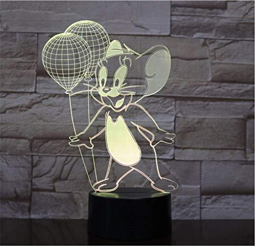 QHQ Tom Und Jerry Tischlampe Schlafzimmer Dekoration Cartoon Touch Kinder Kinder Gadget Geschenk Maus Nachtlichter Led Usb Decor