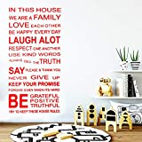 zhuziji Kreative Familie Zitieren Vinyl Wandaufkleber Haus Dekoration Stikers Kinderzimmer Natur Decor Aufkleber Interessant S 42 cm X 86 cm