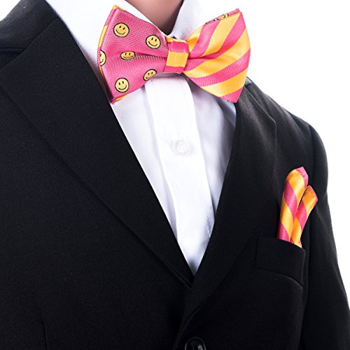 Canacana - Nœud papillon - Motifs - Garçon Rose - Pink and Yellow