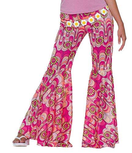 Power Bottom Kostüm - Adult 60s Flower Power Bell Bottoms