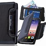 Huawei G8 Hülle, numia Handyhülle Handy Schutzhülle [Book-Style Handytasche mit Standfunktion und Kartenfach] Pu Leder Tasche für Huawei G8 / Huawei GX8 Case Cover [Schwarz]
