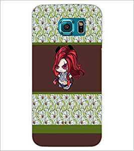 PrintDhaba Cartoon D-2752 Back Case Cover for SAMSUNG GALAXY S6 (Multi-Coloured)