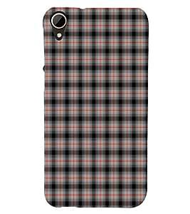PrintVisa Block Pattern 3D Hard Polycarbonate Designer Back Case Cover for HTC Desire 828 Dual Sim