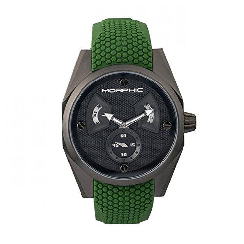 Morphic M34Series mph3408Men S WATCH w/Day/Date-Black/Green