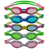 #DoYourSwimming »Flippo« Kinder-Schwimmbrille, 100% UV-Schutz + Antibeschlag. Starkes Silikonband + stabile Box. TOP-MARKEN-QUALITÄT! AF-1700S, blau/gelb