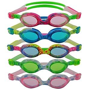 #DoYourSwimming »Flippo« Kinder-Schwimmbrille, 100% UV-Schutz + Antibeschlag. Starkes Silikonband + stabile Box. TOP-MARKEN-QUALITÄT! AF-1700S, pink/grün