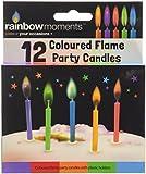 Boxer Gifts, Candeline per torte di compleanno, con fiammella colorata, 12 pz., Grigio (grau)