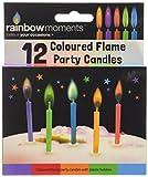 Boxer Gifts, Candeline per Torte di Compleanno, con fiammella Colorata, 12 pz, Grigio (Grau)