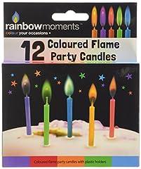 Idea Regalo - Boxer Gifts, Candeline per torte di compleanno, con fiammella colorata, 12 pz, Grigio (grau)