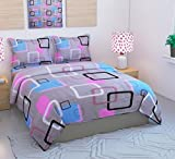 #1: Sidhi 100% Cotton 3D 5D Printed Double Bedsheet With Two Pillow Cover (90X100)Inches,multicolour Digital print