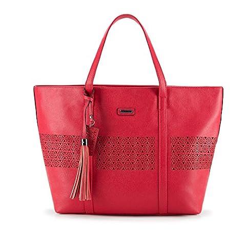 WITTCHEN Damen Shopper Damentasche, 15.5x43x32 cm, Rot, Kunstleder, Leder, 82-4Y-605-3