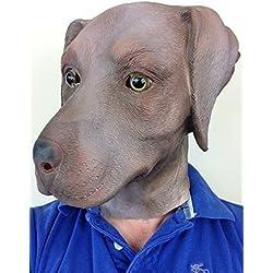 Máscara de perro Labrador chocolate.