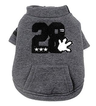 Smalllee _ Lucky _ Ranger Manteau avec doublure polaire Sweat Veste imprimé Puppy Pet Vêtements Han Version, petite, gris