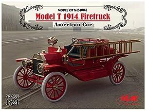 ICM 24004-Maqueta de Model T 1914Fire Truck American Car