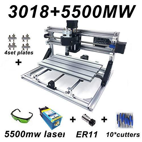 Laser-carving-messer (Mini gravurmaschine CNC Fräsmaschine Arbeitsbereich 300 * 180 * 45mm, DIY CNC Router Maschine GRBL Control 3 Achsen Mini Holz PCB Acryl Fräsmaschine Metall Gravur Carving Maschine)