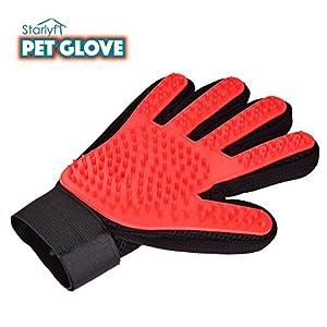 VENTEO PET GLOVE – Gant de brossage à 5 doigts pour animaux de compagnie – Idéal pour les chiens et chats – Fonctionne sur poils longs, courts et frisés