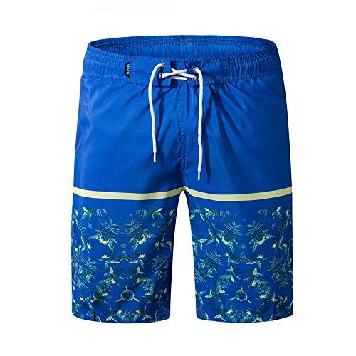 Aiserkly Herren Bermuda Shorts Mit Reißverschlusstaschen und Drawstring Badehose Quick Dry Kurze Surfen Laufen Schwimmen Short (Boxer Briefs Von Amazon Verkauft)