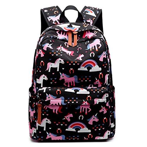 Frauen Rucksack Katze Hund Flamingo Einhorn Schule Druck Rucksack Bookbag Nette Schultasche Für Teenager Reise Laptop Tasche Black - Louis Vuitton Muster