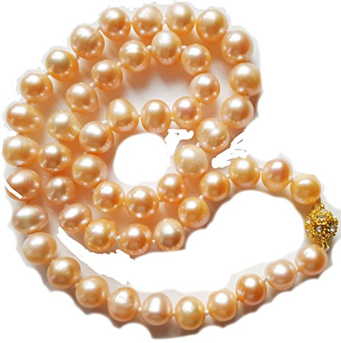 aaa-8-9-mm-pink-akoya-cultured-pearl-necklace-18k-gold-plated-ball-clasp-w-faux-diamonds