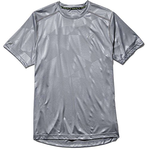 Under Armour Herren Laufshirt Coldblack Steel / Steel / Reflective