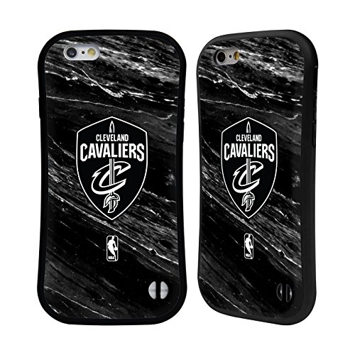 Ufficiale NBA Maglia Cleveland Cavaliers Case Ibrida per Apple iPhone 7 Plus / 8 Plus Marmo B&N