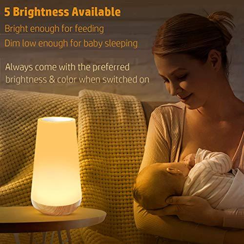 Kinder Nachtlicht Tischlampe/Dimmbar Farbwechsel Nachtlampe mit USB Aufladung Touch-Bedienung für Kinderzimmer - TouchBedienung, TischlampeDimmbar, Nachttischlampe, nachtlicht babyzimmer, Nachtlampe, Kinder, Farbwechsel, baby einschlafhilfe, Aufladung