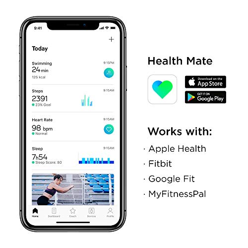 Withings Pulse HR Bracelet connecté d'activité et Suivi du Rythme Cardiaque Mixte Adulte, Black,...