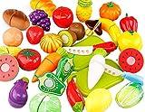 LAAT 20 STÜCKE Lebensmittel Spielzeug Schneiden Spaß Spielen Obst Lebensmittel Spielzeug FoodPretend Gemüse Pädagogisches Spielzeug Spielen Essen Set für Kinder Kinder (7)