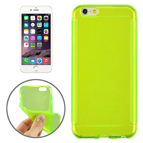Phone case & Hülle Für IPhone 6 / 6s, 0.3mm ultradünner Anti-Rutsch-TPU Fall ( Color : Magenta ) Green