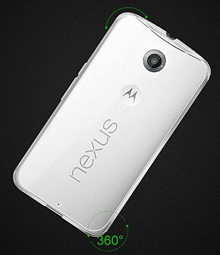 Motorola Nexus 6 Ultra Slim Super dünn 0,6mm Schutzhülle TPU Silikon Crystal Case Durchsichtig