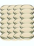 48 Twist-Off-Deckel Verschlüsse Ersatzdeckel Deckel für Sturzgläser To 82 Passend für 230 /350 / 435 ml / 565 ml (Gold)