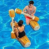 OOFAYWFD 4 Pcs/Set Joust Pool Schwimmer Spiel Aufblasbare Wassersport-Stoßstange Spielzeug Für Erwachsene Kinder Party Gladiator Floß Kickboard Piscina