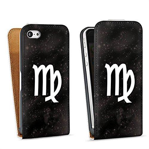 Apple iPhone 6 Housse Étui Silicone Coque Protection Vierge Signes du zodiaque Astrologie Sac Downflip blanc