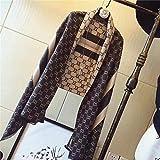 IYBLHDF Schal für Damen, Herbst und Winter, Joker, dickes Lätzchen, doppelseitig, Kaschmir, lange Klimaanlage Gr. Einheitsgröße, Gray Rice