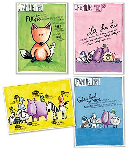 Postkarten für Eltern und Kind mit Kinderlied Set aus 9 Karten