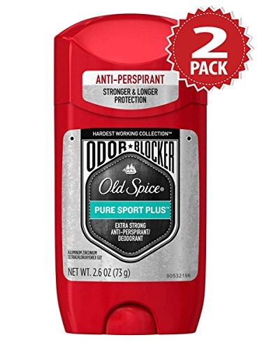 Preisvergleich Produktbild Old Spice Hardest Working Collection Odor Blocker Pure Sport Plus Anti-Perspirant & Deodorant - 2er Pack (2x73g)