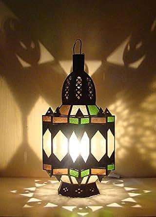 Lampe lanterne marocaine électrifiée 65cm photophore maroc bougeoir oriental 100% Fait main