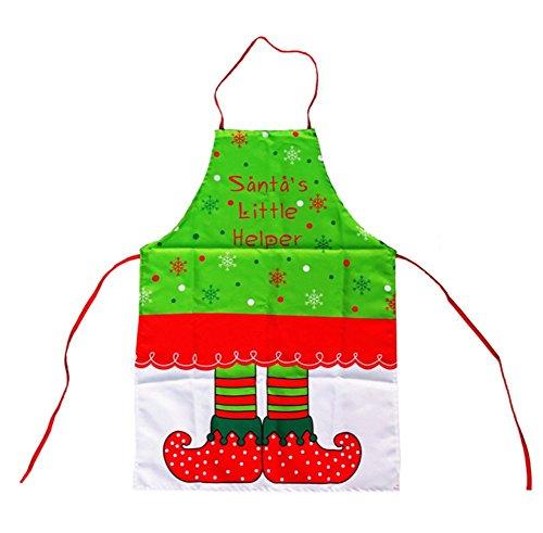 Oyfel Chefs Grembiule cuoco divertenti cucina barbecue grembiule Elfe Babbo Natale rosso cotone e lino senza maniche Tessuto per donna uomo Macellai giardiniere ristorante BBQ 70 x 50 cm 1pcs
