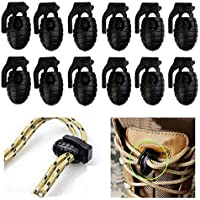 Fansport 12PCS Cord Lock Drawstring Toggle Hole Spring Stopper para Cordones para Zapatos