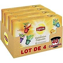 Lipton La Collection Capsule Thés Et Infusions Coffret 10 Capsules 25g - Lot de 4