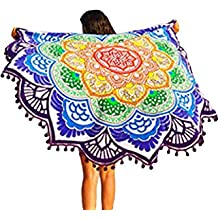 Secret Boutique Online Mandala Lotus Colorful Toalla de Playa Ronda Playa Manta Boho Tapiz
