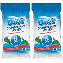 2 x Duzzit Pack de 50 desinfectante toallitas Mata 99,9% de los gérmenes