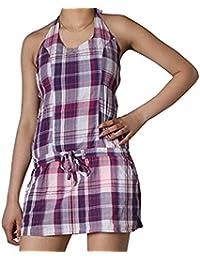 Freshmade Neckholder Sommer Kleid Gr.M Minikleid Strandkleid Longshirt lila