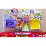 Dora the explorer Let's go adventure Big sister play set ~ 5 Pieces