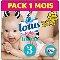 Lotus Baby Touch - Couche Taille 3 (4-9 kg)  Pack 1 mois (176 couches)
