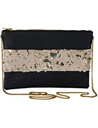 Revolution Handcrafted Trendy PU Designer Black Stylish Party Wear Slingbag For Women. Slingbag For Girls.Specially...