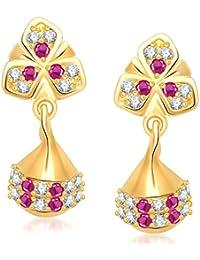 Meenaz Jewellery Gold Plated Pearl Jhumka Earring Ear Rings For Girls Women Earring Necklace Jewellery Jhumki-J113