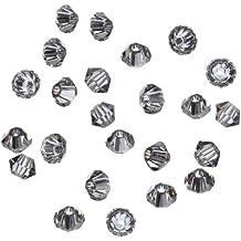 Gütermann / KnorrPrandell 2213958 - Swarovski Tupis 3mm diamante negro, 25 unidades / caja [Importado de Alemania]